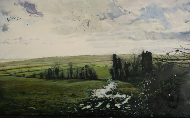 The Burn Fields, oil on board, 77 x 113 cm (Private Collection)