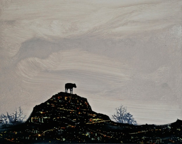 City Cow, oil on board, 18 x 24 cm, (Private Collection)