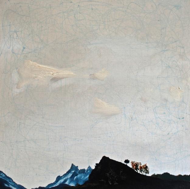 Jogular Glide, oil on board, 38 x 38 cm