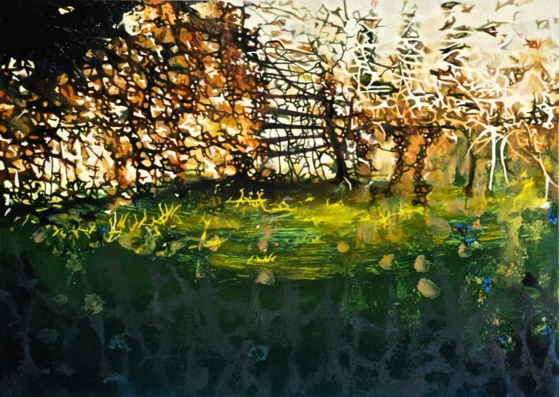 The View from Daniel's Studio, oil on board, 25 x 30 cm