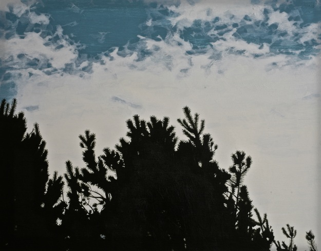 Cloud Mimicking, acrylic on board, (Private Collection)