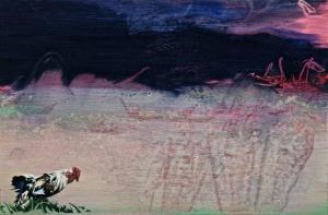 Male Storm, oil on board, 10 x 15 cm