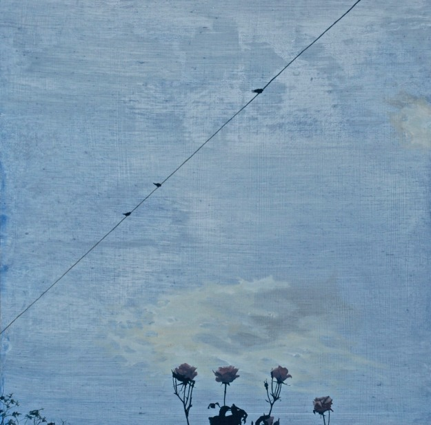 High Tension Wire, oil on board, (Private Collection)