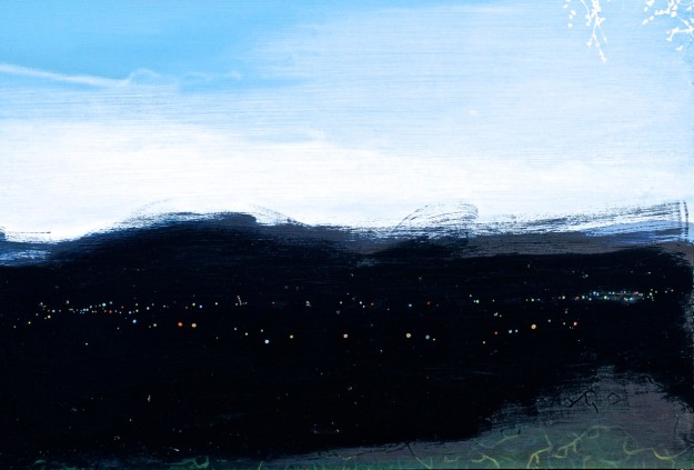 Night Too Bright, oil on board, (Private Collection)