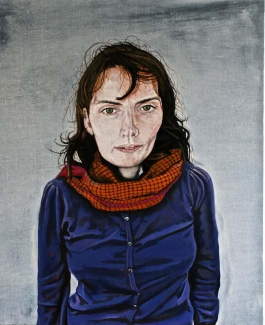 Self Portrait, oil on linen, 55 x 65 cm, National Self Portrait Collection of Ireland, 2012