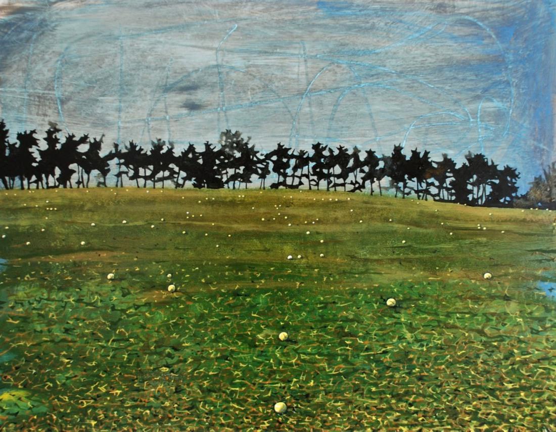 Golfscape, oil on board, 50 x 60 cm