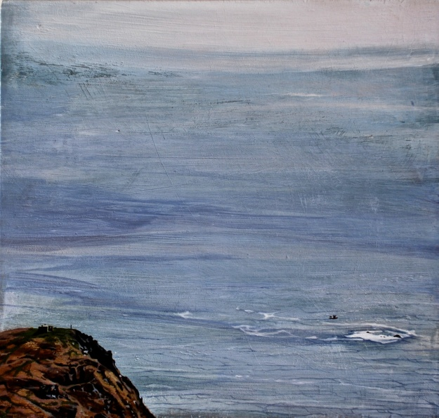 Seen from Achill Head, oil & gesso on board, 30 x 30 cm, (Private Collection)
