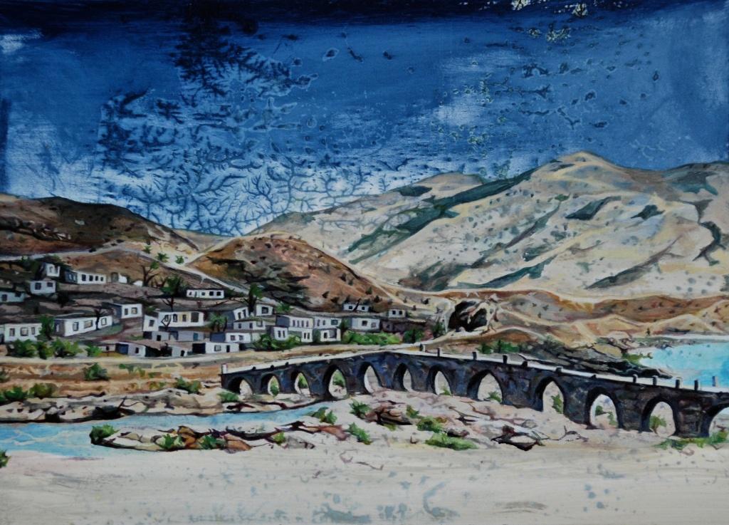 'Bridge to Armenia', oil on panel, 18 x 24 cm