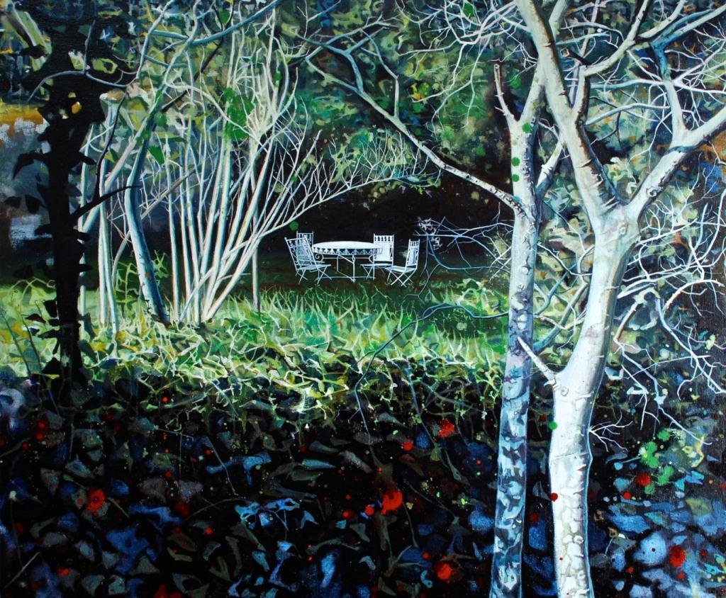 In the Gardens of Mas Peyrot, oil on linen, 83 x 103 cm
