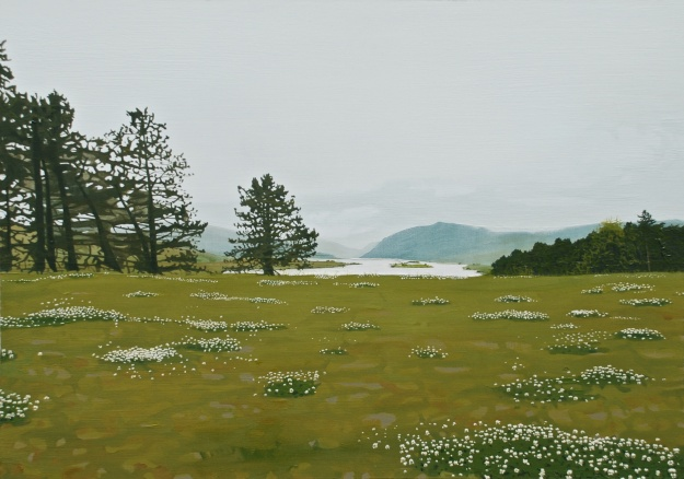 'Looking Onto Lough Veagh', oil on board, 41 x 58 cm, (private collection)