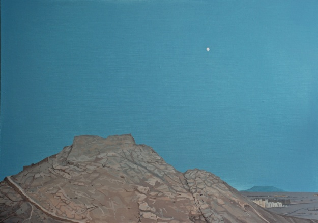 Tower of Silence, oil on board, 51 x 62 cm, (private collection)