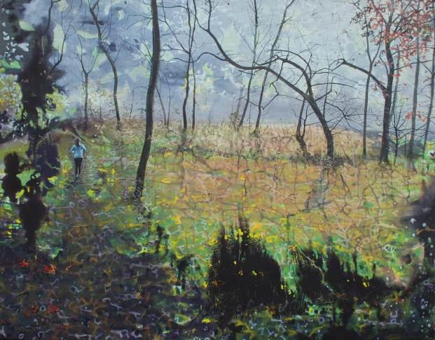 Don't Be Afraid, oil on canvas, 97 x 122 cm