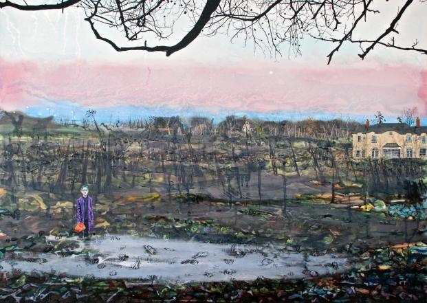 Halloween Boy, oil on panel, 50 x 70 cm, 2018, by Ann Quinn