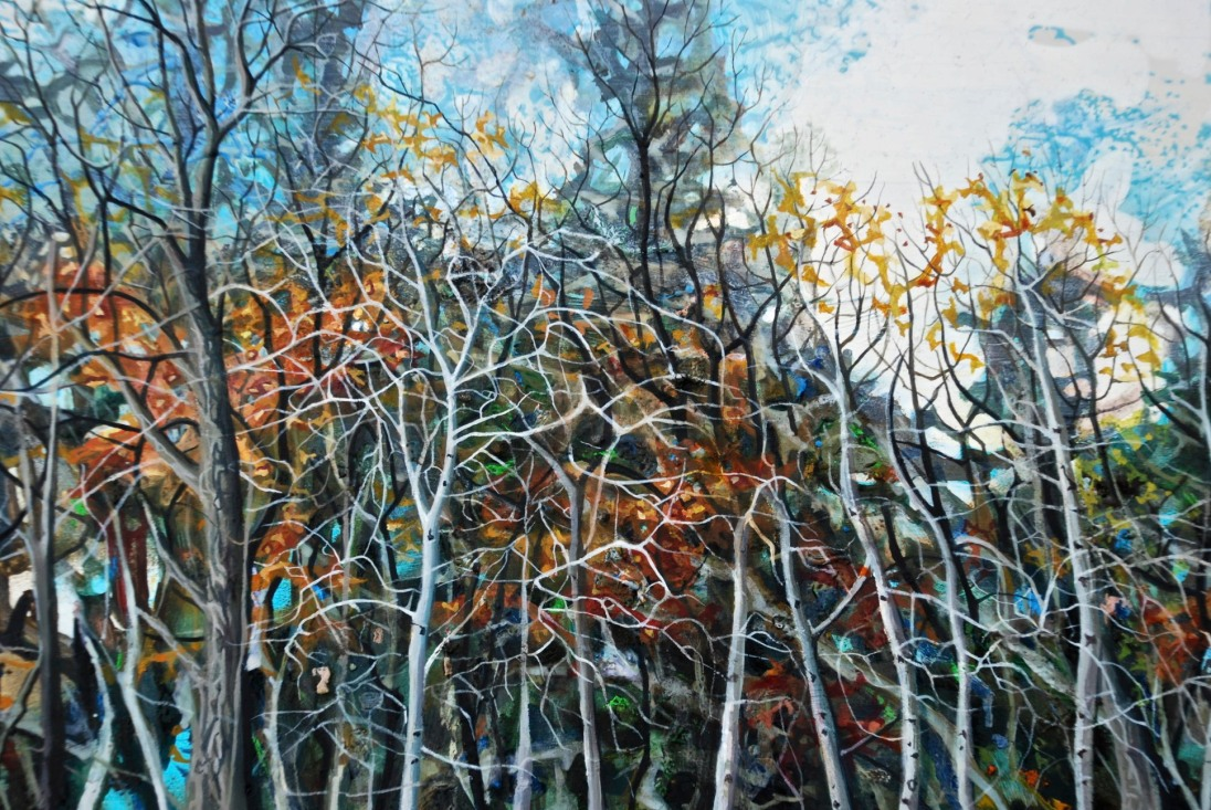 Prairie Trees, oil on panel, 20 x 30 cm