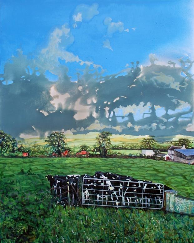 Summer on my Father's Farm, oil on canvas, 100 x 80 cm