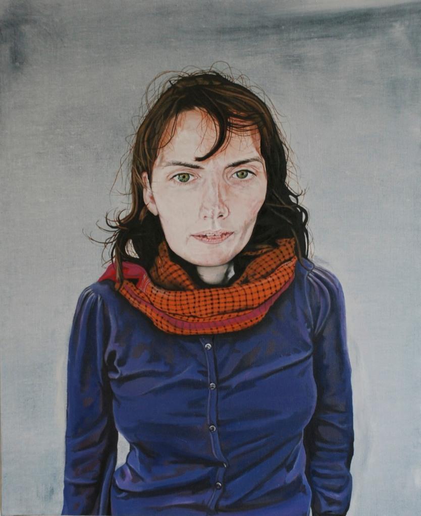 Self Portrait, oil on linen, 40 x 60 cm, 2012